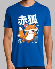 kawaii fox shirt mens