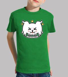 kawaii komondor dog face - chemise enfant
