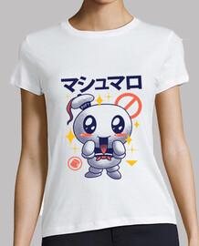 kawaii marshmallow camisa para mujer