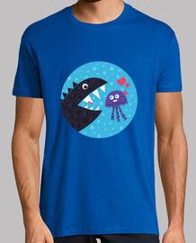 kawaii méduses mignon dans l'amour