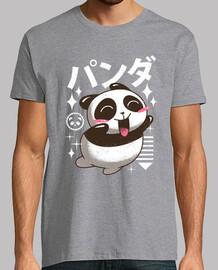 kawaii panda camisa para hombre