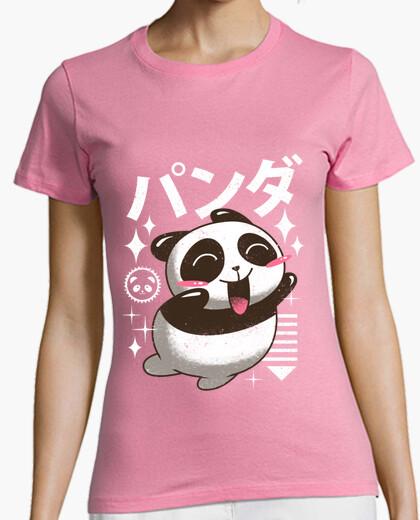 Camiseta kawaii panda camisa para mujer