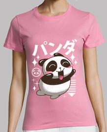 kawaii panda camisa para mujer