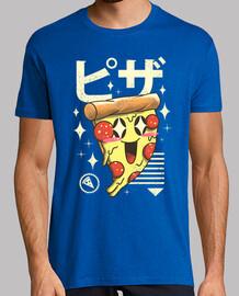 kawaii pizza camisa para hombre