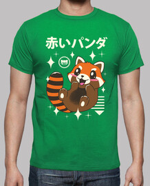 kawaii red panda shirt mens