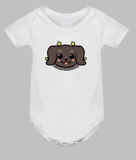 kawaii schwarzes Labrador-Hundegesicht