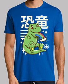 kawaii t-rex camisa para hombre