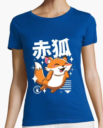 Camiseta kawaii zorro camisa para mujer