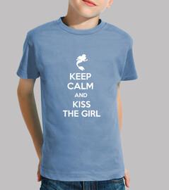 Keep cal and kiss the girl - Niño azul