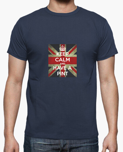 Camiseta Keep Calm an Have a Pint. British