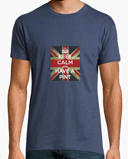 Camiseta Keep Calm an Have a Pint. British