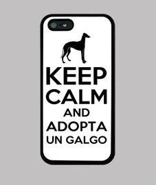 Keep Calm and Adopta un galgo - negro