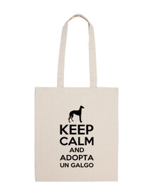 keep calm and adopter un lévrier - noir