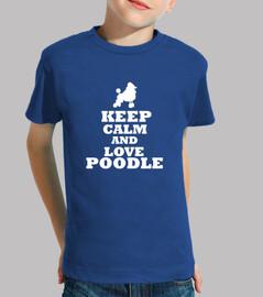 keep calm and aime le caniche