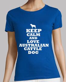 keep calm and aimer le chien de bétail
