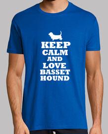keep calm and amore basset hound
