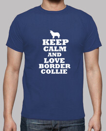 keep calm and amore border collie