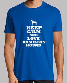 keep calm and amore hamilton hound