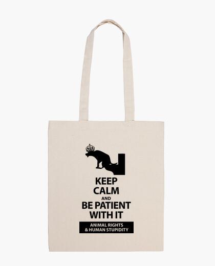 Bolsa KEEP CALM AND ANIMAL RIGHTS