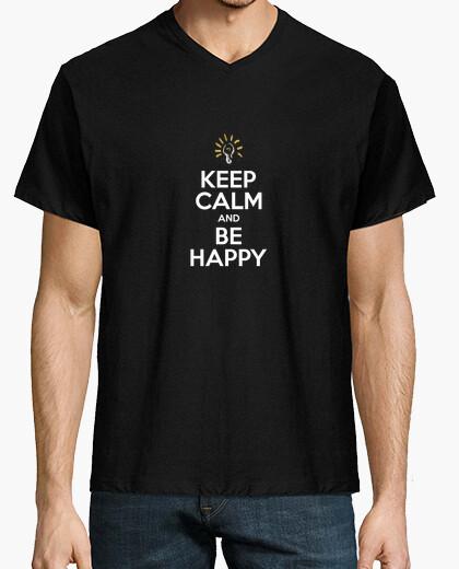 Camiseta KEEP CALM AND BE HAPPY