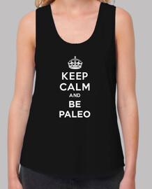 Keep Calm and BE PALEO WHITE