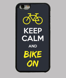 keep calm and bici sulla cover iphone 6