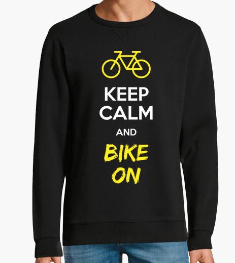 Keep calm and bike on hoody