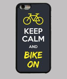 keep calm and bike on cover iphone 6