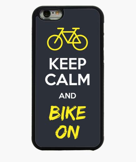 Keep Calm And Bike On Funda iPhone 6 / 6S 6