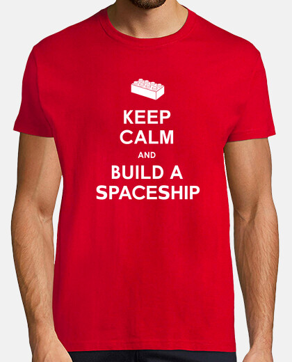 Keep Calm and build a Spaceship Mens shirt