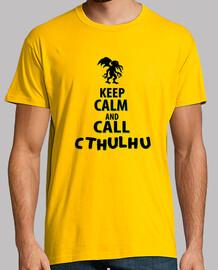 Keep calm and call Cthulhu, texto negro