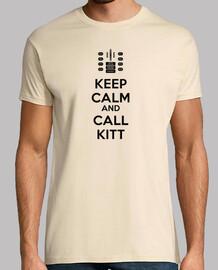 Keep Calm and Call KITT - Letras Negras