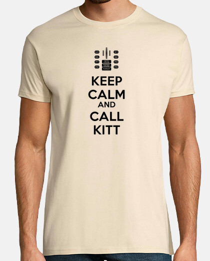 Keep Calm and Call KITT - Letras Negras