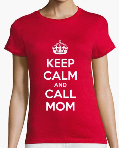 T-shirt keep calm and call mamma