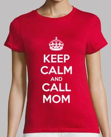 Keep calm and call mom (dark)