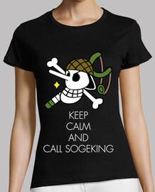 Keep Calm and Call Sogeking (Blanc)