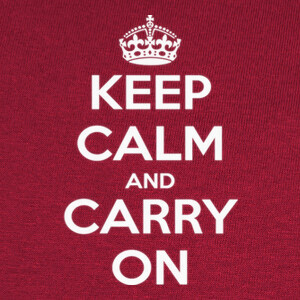 Camisetas Keep calm and carry on