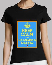 keep calm and catalunya matata
