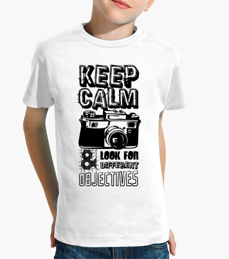 Vêtements enfant keep calm and cherchez des objets diffé