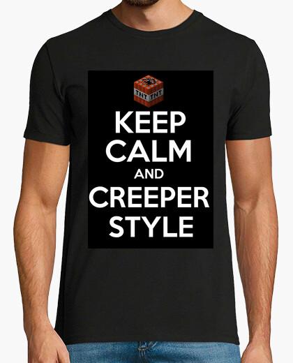 Camiseta Keep Calm and Creeper Style
