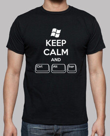 keep calm and ctrl alt supr (boy, black)
