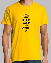 keep calm and ctrl z black