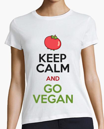 Tee-shirt keep calm and deviens végétalien