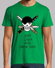 Keep Calm And Drink Sake Black