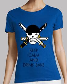 Keep Calm and Drink Sake (Noir)