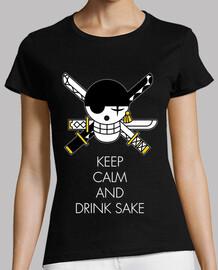 Keep Calm And Drink Sake White