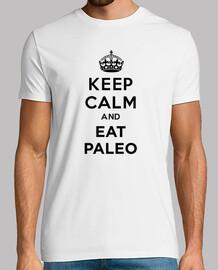 Keep Calm and EAT PALEO BLACK