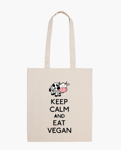 Borsa keep calm and eat vegan