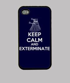 Keep calm and Exterminate (Dalek) - Funda iPhone