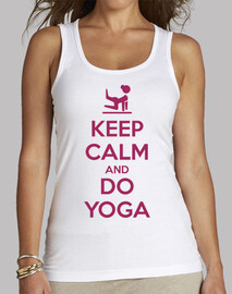keep calm and faire du yoga